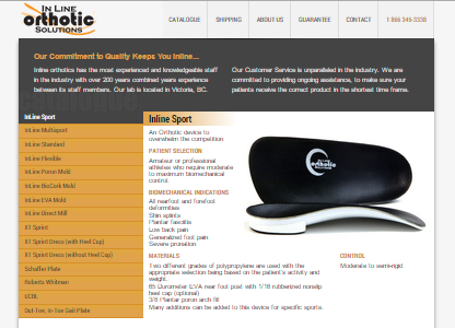 inline orthotic solutions website